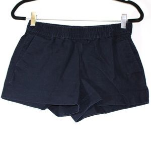 J. Crew blue shorts with an elastic band